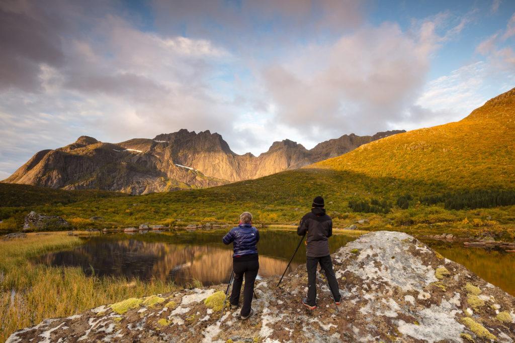 voyage photo et photographe dans les îles lofoten en automne en norvège