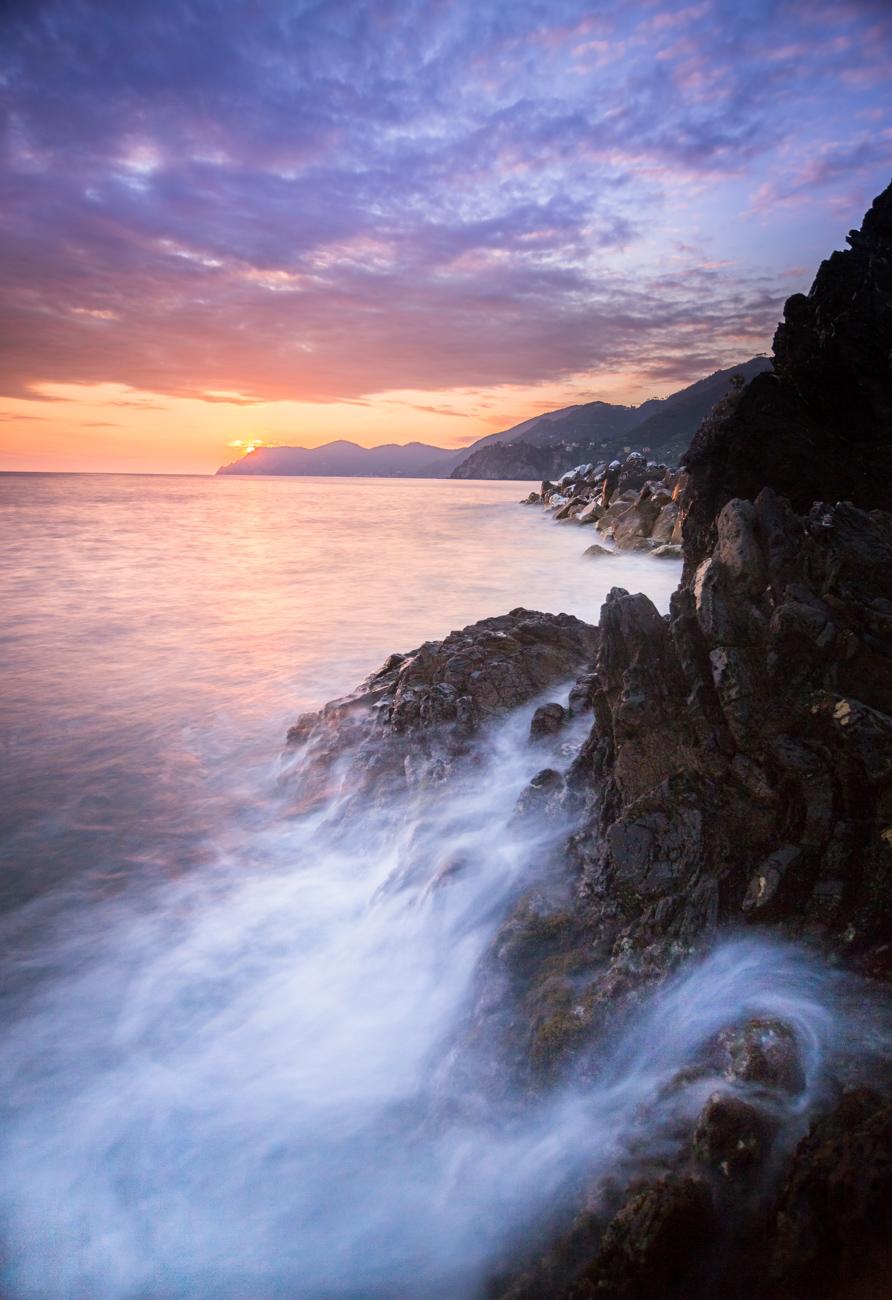 Prise de vue de paysage aux Cinque Terre
