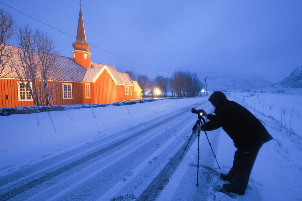 Photo de nuit en Norvège