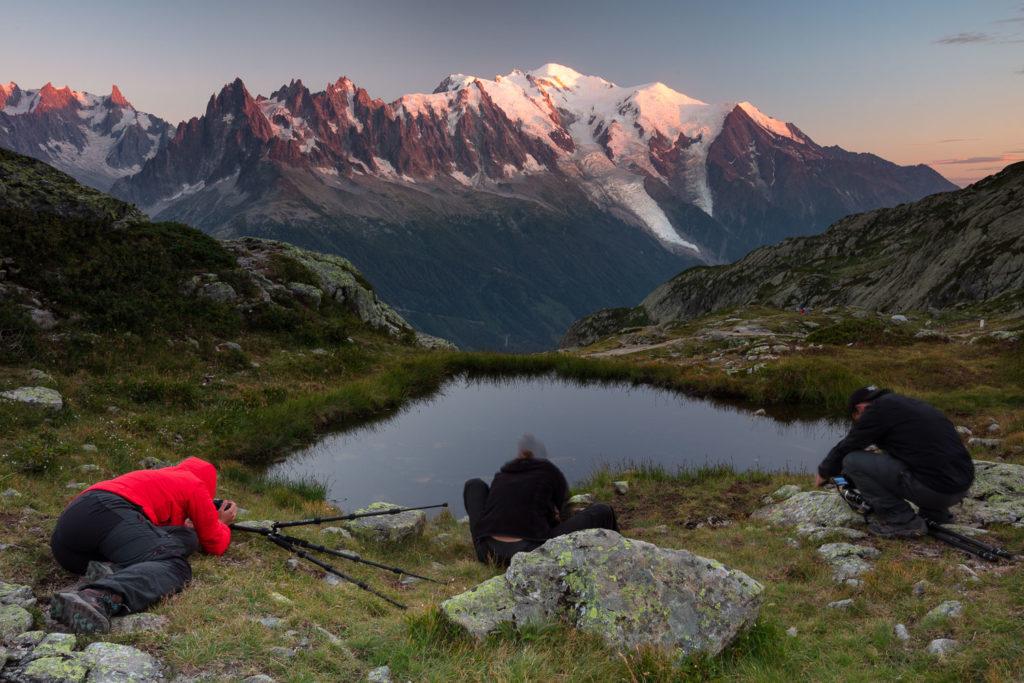 photographes stagiaires durant le stage photo Un balcon sur le Mont Blanc