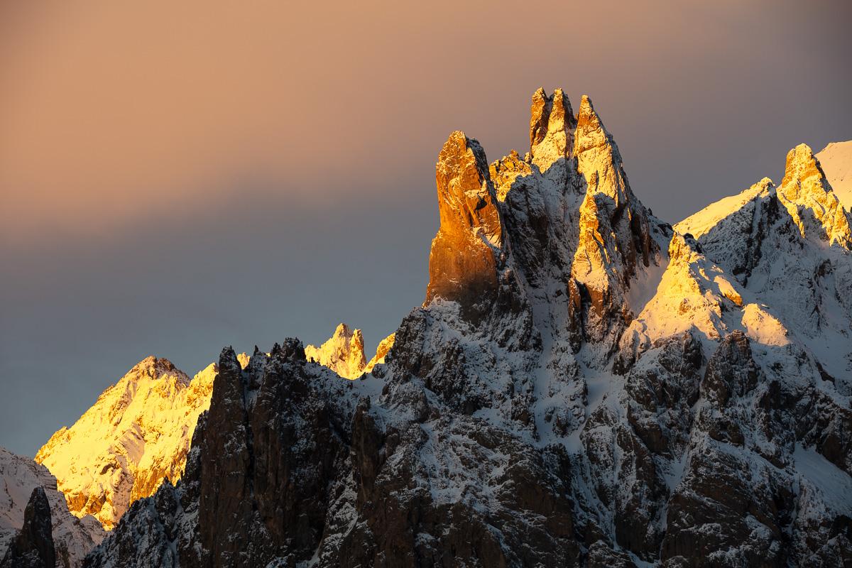 aiguilles de la Main de crépin stage photo de paysage de montagne, vallée de la Clarée