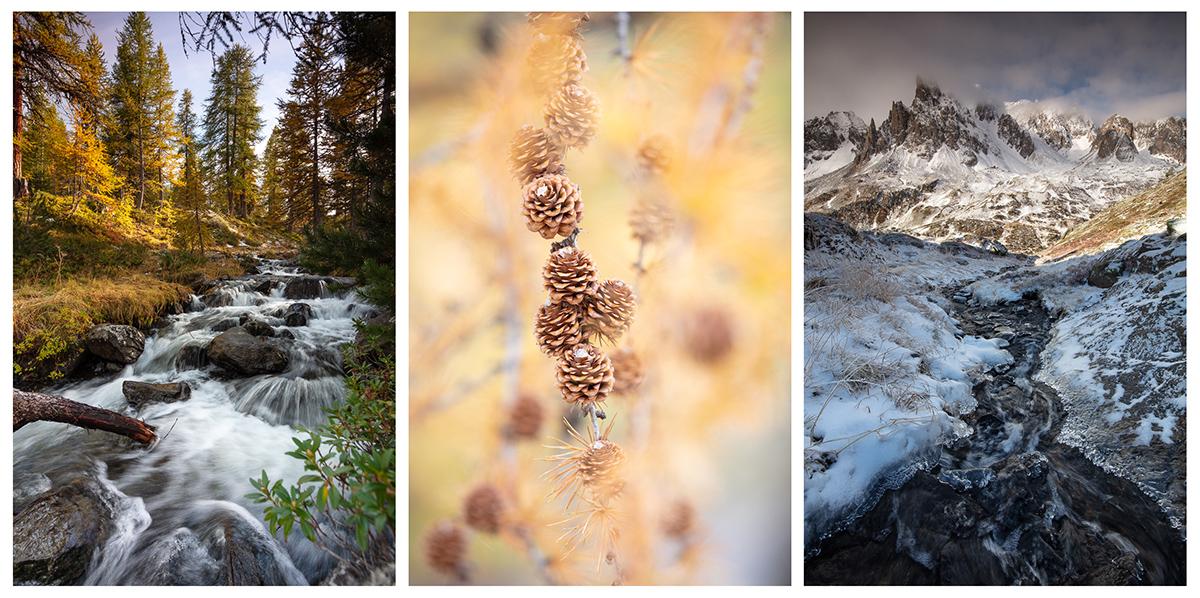 stage photo de paysage de montagne, vallée de la Clarée