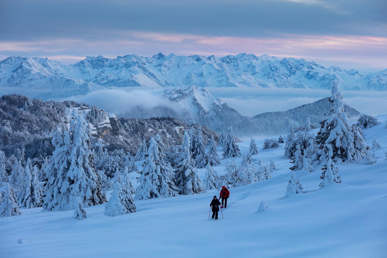 retour de stage photo dans le massif des Bauges, en hiver